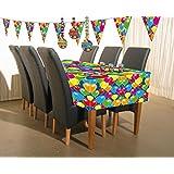 Tischdecke 130x180cm Geburtstag Jubiläum Luftballons