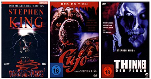 Stephen King Fan Paket (3 Filme) (Thinner, Golden Tales, Cujo) [3 DVDs]