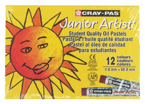 Sakura Xep12 12-Piece Cray-Pas Junior Artist Assorted Color Oil Pastel Set front-1014655
