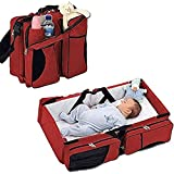 ShopyBucket Baby Bag 3 In 1 - Diaper Bag - Travel Bassinet - Change Station -Mulit-purpose 1 Baby Diaper Tote Bag Bed Nappy Infant Carrycot Crib Cot Nursery Portable Change Table Portacrib Boy Girl Top Best Quality Bottle Mom Dad (Colour As Per Availabili