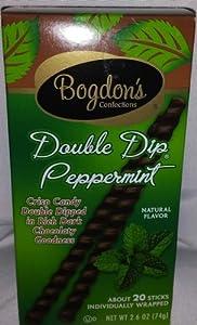 Bogdon's Reception Sticks - Double Dip Mint/Peppermint Chocolate, Green Box, 2.625 oz, 1 count