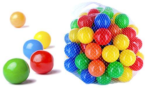 200 pezzi di palline colorate per i bambini, i bambini e gli animali, diametro 55 millimetri, certificato TUV
