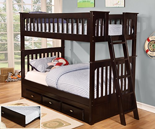 Discovery World Furniture Twin Over Twin Bunk Bed With