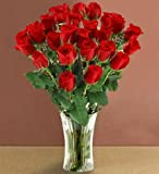 Send Fresh Cut Flowers - 25 Long Stem Red Roses