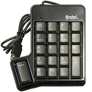 Connectland CL-USB-NUMSPC USB Numeric keypad with 19 keys + Space Bar