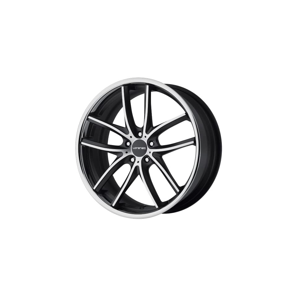 Lorenzo WL199 Wheel with Satin Black Machined (22x9/5x4.5)