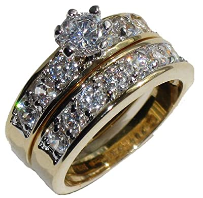 Wonderful Ladies Sparkling Swarovski Elements Ring And Band Set. 2ct Solitaire Ring With 6 Prongs And Tiny Brilliant Rounds On A Side Setting. Outstanding Quality Designer Jewellery.