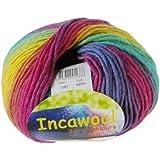 Hjertegan Incawool Print, Rainbow
