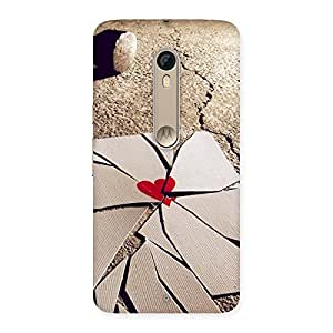 Gorgeous Broken Heart Ace Print Back Case Cover for Motorola Moto X Style