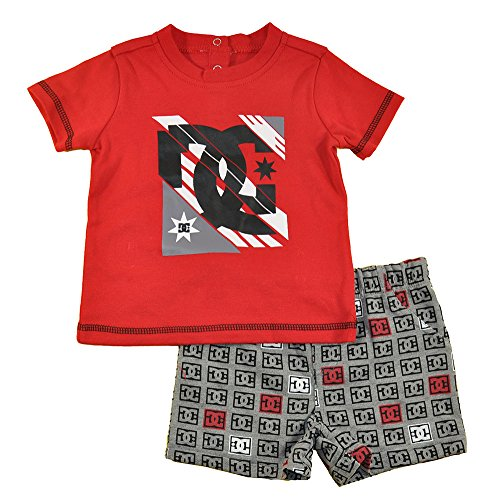 DC Shoes Co Baby-Boys Newborn Tee with DC Print Shorts