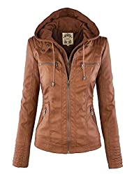 MBJ Womens Removable Hoodie Motorcyle…