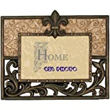 Ll Home Hollow Scrolls with Fleur-De-Lis 4 by 6-Inch Photo Frame