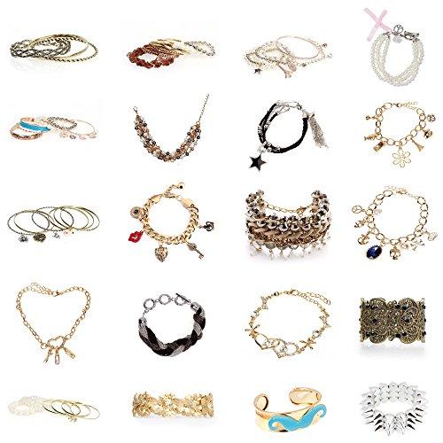 BMC Mystery Surprise 5pc Mixed Design Fashion Statement Jewelry Bracelet Kit