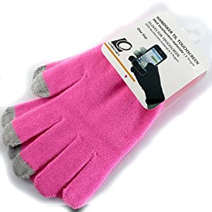 [Aftermarket Product] New Smart Phone Touch Screen Gloves iGloves Replace Replacement For BlackBerry 9380 9790 9900 9930 9860 Apple iPhone iPad iPod Touch Samsung Galaxy S II Y Nexus Note Tab HTC Rhyme Sensation XE XL Titan Radar [Pink]