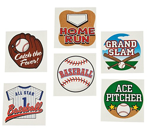 Fun Express Temporary Baseball Tattoos (6 Dozen) - 1