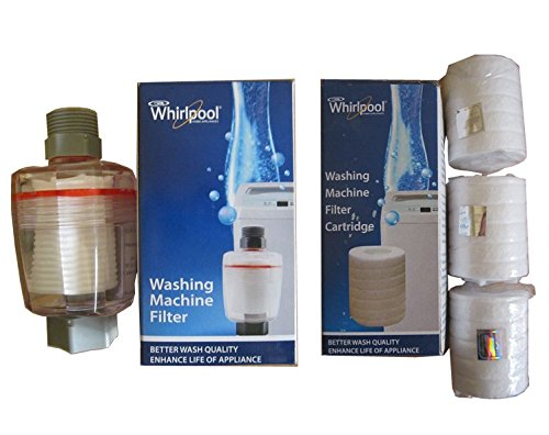 Whirlpool'S Genuine Accessories Washing Machine Filter Non Electric) & 3 Cartridges