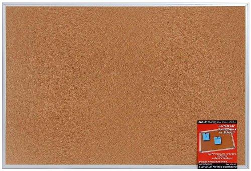 Dooley Aluminum Framed Cork Board, 24 x 36 Inch, 1 Board (2436COA)
