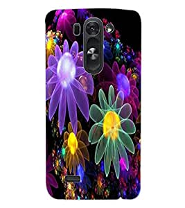 ColourCraft Beautiful Flowers Design Back Case Cover for LG D722 K