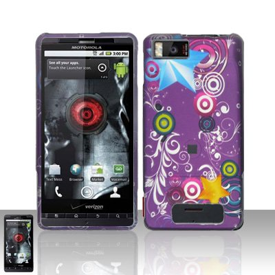 Purple Galaxy Snap On Hard Protective Cover Case For Motorola Droid X Mb810