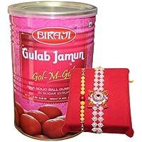 Handicrunch Bikaji Gulam Jamun 1.25 Kg With Rakhi Combo Set Of 2