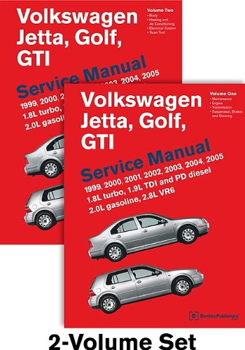 Volkswagen Jetta, Golf, GTI (A4) Service Manual: 1999, 2000, 2001, 2002, 2003, 2004, 2005 - 2 VOLUME SET (Vw Jetta Owners Manual compare prices)
