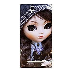 Sweet Angel Doll Multicolor Back Case Cover for Sony Xperia C3