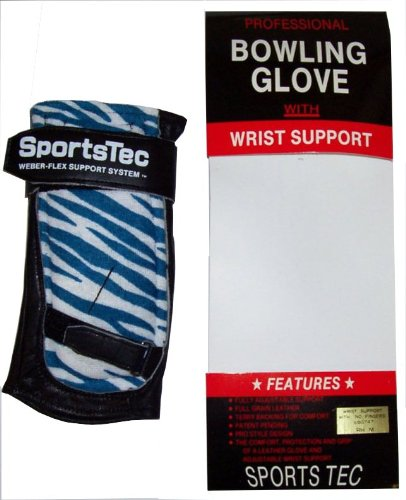 SportTec Economy Bowling Glove w/ Wrist Support - Right Hand Medium