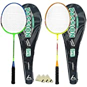 Guru Passion BR08 COMBO-04 Badminton Racket Set Pack Of Two With Two Cover & 3 Shuttlecock Size: 27 Inch
