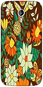 Snoogg abstract floral background Designer Protective Back Case Cover For Micromax A116