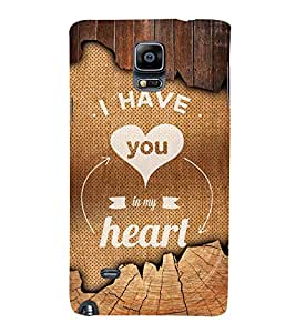 You Are My Heart 3D Hard Polycarbonate Designer Back Case Cover for Samsung Galaxy Note 4 N910 :: Samsung Galaxy Note 4 Duos N9100