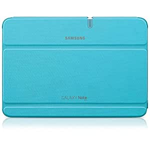 Samsung Original Diarytasche (Flipcover) im Buchdesign EFC-1G2NLECSTD (kompatibel mit Galaxy Note 10.1, Nicht kompatibel mit 2014 Edition) in capri blue