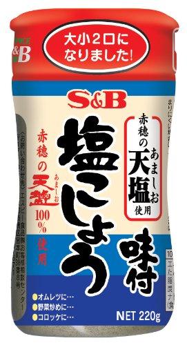 S&B 味付塩こしょう 赤穂の天塩使用 220g×4個