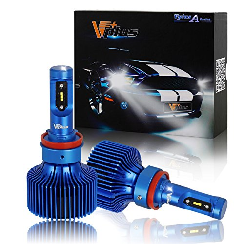 Vplus A Series LED Headlight Bulbs w/Clear Arc-Beam Conversion Kit -H8 H9 H11 90W 8,400LM 6500K White Seoul w/No Fan Headlamp Adjustable Light Pattern LED Replace HID&Halogen -2 Yr Warranty(2pcs/set) (200 Toyota Camry Headlight Driver compare prices)