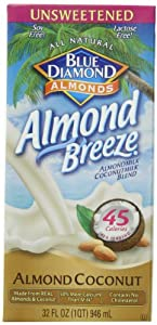 Blue Diamond Almond Coconut, Unsweetened Original, 32-Ounce (Pack of 12)