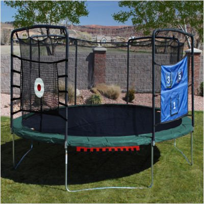 Skywalker 17 x 15 Oval Trampoline with Sports Arena Games SAU17G09