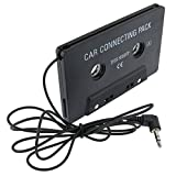 Everydaysource® Compatible with Samsung© Galaxy SIV/ S4 i9500 Black Car Audio Cassette Adapter