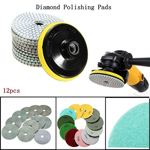 baban-12pcs-mix-grit-premium-grade-dry-4diamond-polishing-pads-set-for-wet-polisher-granite-marble-s