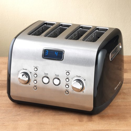 KitchenAid KMT423OB 4-Slice Toaster, Onyx Black