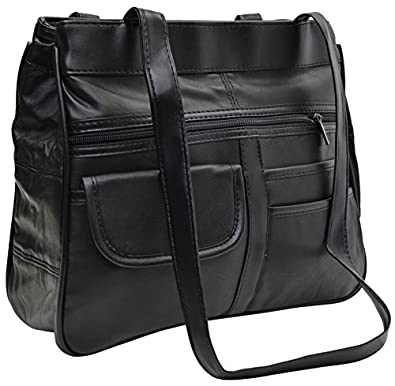 New large women 39 s leather organizer purse shoulder bag - Organizer purses and handbags ...