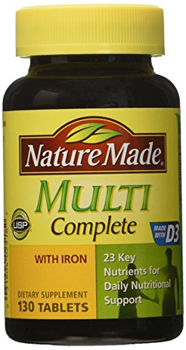 Nature Made Multi Complete with Iron 130 Tablets (Womans Vitamins Nature Made compare prices)