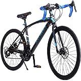 Ancheer Road Bike 21 Speed 700C Hybrid Bicycle Mountain Bikes Racing 26 inch Wheels