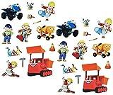 Set 29 Stk. Sticker / Aufkleber - Bob der Baumeister Mixi Buddel Rollo - selbstklebend - Jungen Stickerset Kinder Baustelle Bagger Auto z.B. für Stickeralbum