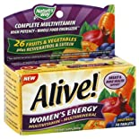 Nature's Way Alive! Multivitamin/Multimineral, Women's Energy, Tablets, 50 ct.