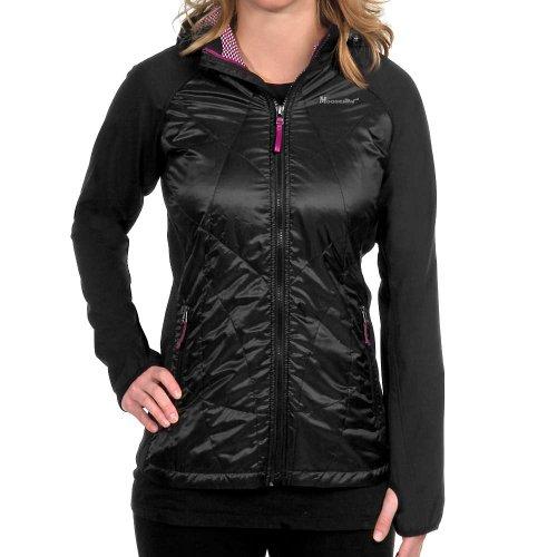 Moosejaw Liz Atwood Cozy Hybrid Softshell Jacket - Women'S Raven / Redbud Large