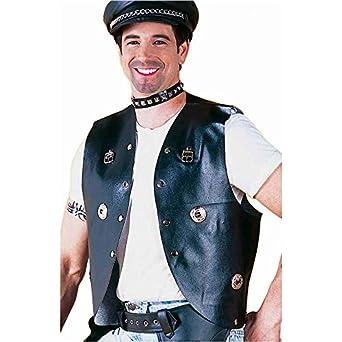 Studded Biker Vest,Black, One Size