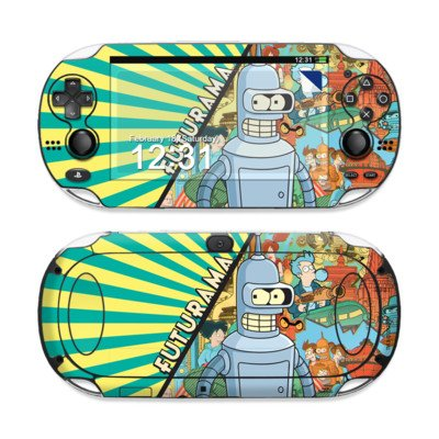 Bender Design Protective Decal Skin Sticker (Matte Satin Coating) For Sony Playstation Ps Vita Handheld front-595266
