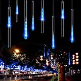 50cm 8 Tube 240 Leds Shower Meteor Rain Light Tube for Wedding Party Christmas Xmas Decoration 5w Lights Waterproof (Blue - 240 LED)