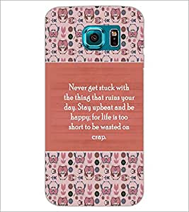 PrintDhaba Quote D-3175 Back Case Cover for SAMSUNG GALAXY S6 EDGE (Multi-Coloured)