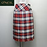 O'NEIL OF DUBLIN (オニールオブダブリン)アイルランド製 リネン プリーツ キルトスカート (10(67-93), レッド)