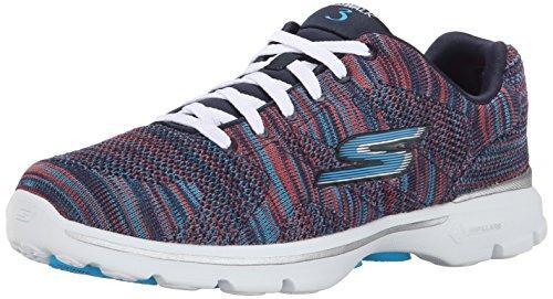 Skechers Go Walk 3 - Contest - Zapatillas de deporte para mujer, color azul, talla 38